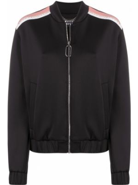 С рукавами черная длинная куртка с воротником Markus Lupfer
