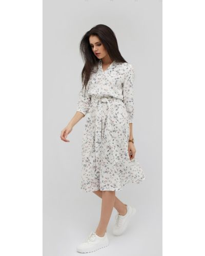 Платье миди из вискозы на резинке Cardo