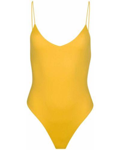 Желтый слитный купальник с подкладкой на бретелях Dos Gardenias