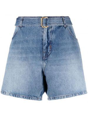 Свободные хлопковые синие джинсовые шорты Tom Ford