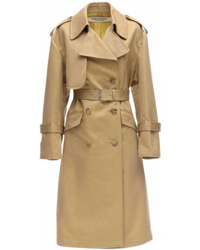 Бежевое пальто с карманами на кнопках Junya Watanabe