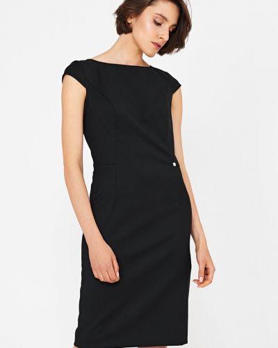 Платье мини однотонное шерстяное Simple