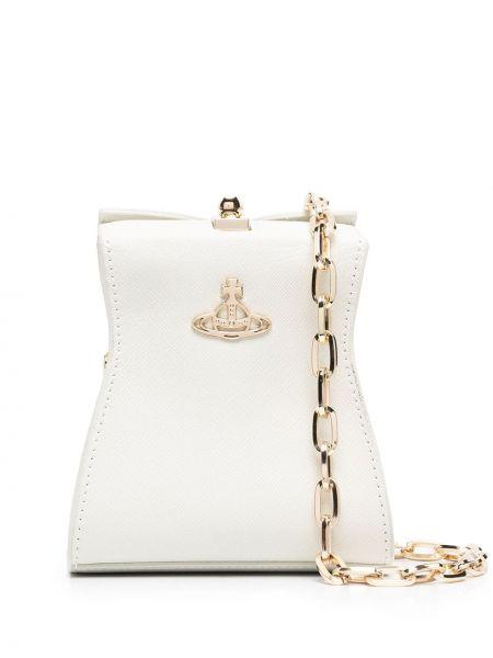 Z paskiem torba kosmetyczna z prawdziwej skóry złoto Vivienne Westwood