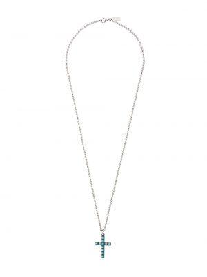 Ожерелье серебряный серый Nialaya Jewelry