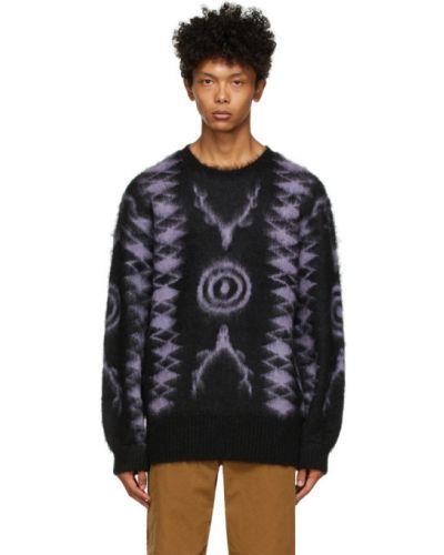 Черный длинный свитер из мохера с воротником South2 West8