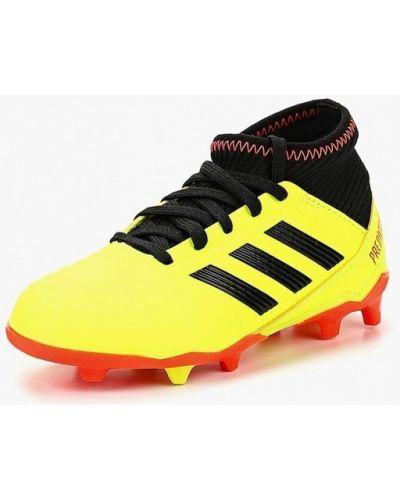 Бутсы желтый текстильный Adidas