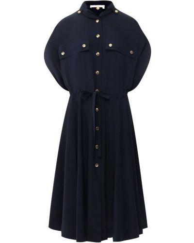 Вечернее платье платье-рубашка с поясом Chloé