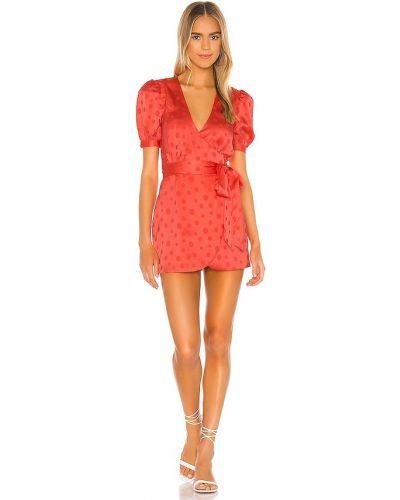 Платье мини атласное - красное Privacy Please