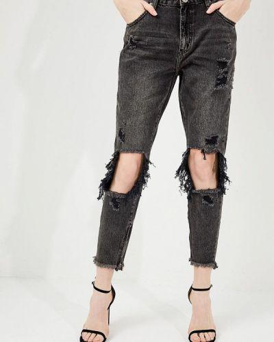 Серые джинсы с высокой посадкой One Teaspoon