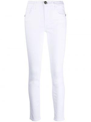 Белые джинсы-скинни на молнии с нашивками Jacob Cohen