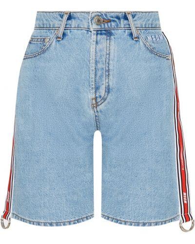 Джинсовые шорты с карманами на пуговицах Msgm