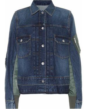 Ватная текстильная классическая синяя джинсовая куртка Sacai