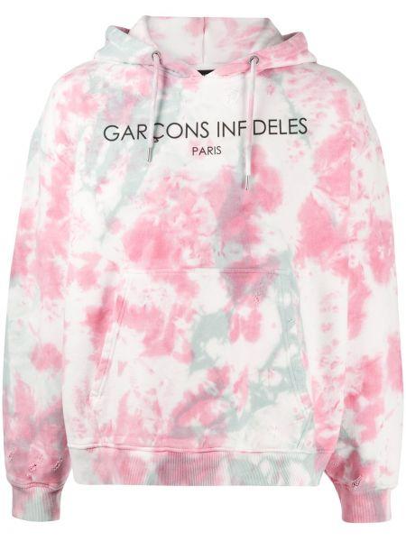 Różowa bluza z kapturem z długimi rękawami Garçons Infideles