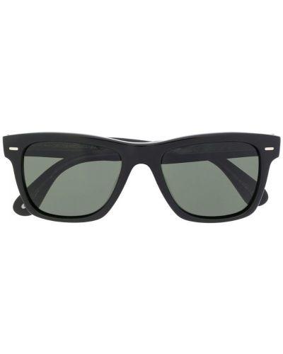 Солнцезащитные очки квадратные черные Oliver Peoples