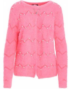 Ciepły różowy kardigan Multu
