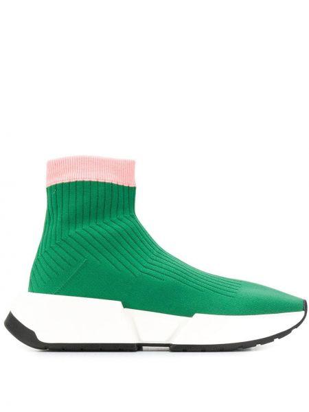 Носки розовый зеленый Mm6 Maison Margiela
