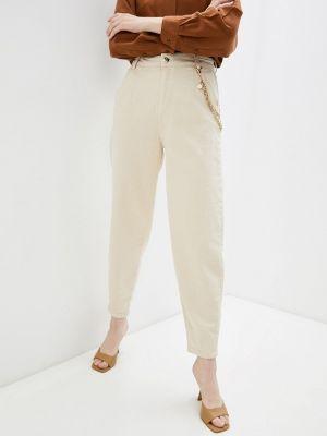Повседневные бежевые брюки D'she