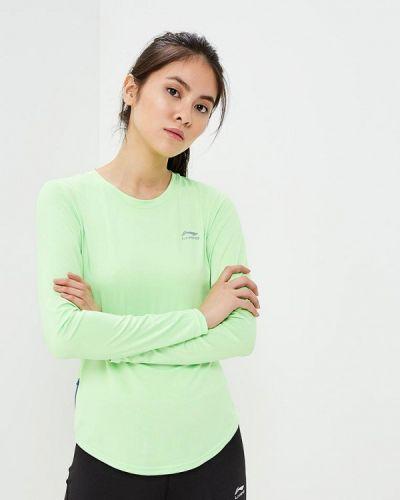 Зеленый спортивный лонгслив Li-ning