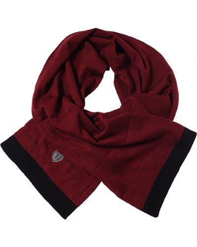 Шарф бордовый красный Trussardi Jeans