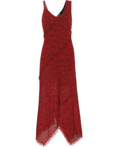 Платье миди в рубчик шерстяное Roland Mouret