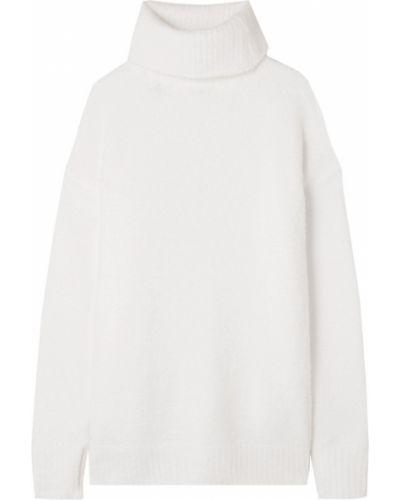 Prążkowany biały sweter z nylonu Atm Anthony Thomas Melillo