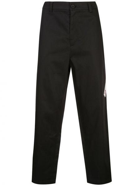 Czarne spodnie bawełniane z paskiem Iise