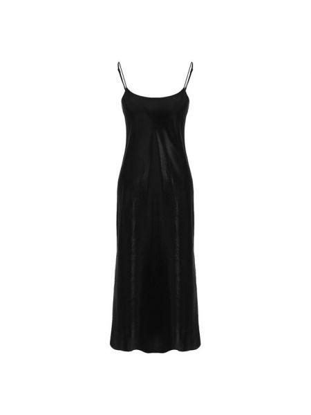 Вечернее платье атласное - черное Vince.