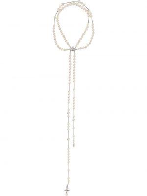 Naszyjnik perły srebrny Vivienne Westwood
