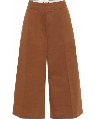 Światło bawełna bawełna brązowy spodnie culotte Marni