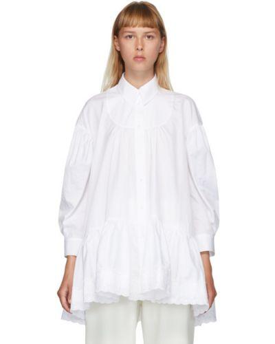 Рубашка с вышивкой с карманами с манжетами с воротником Simone Rocha