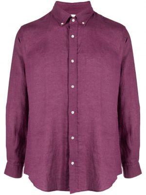Fioletowa koszula zapinane na guziki perły Bluemint