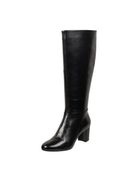 Czarne kozaki skorzane Gerry Weber Shoes