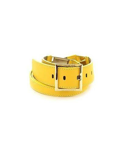 Ремень желтый Versace Collection