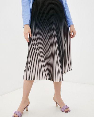 Плиссированная черная юбка синар