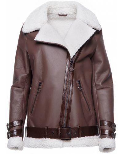 Куртка-пилот из овчины - коричневая Rozetka