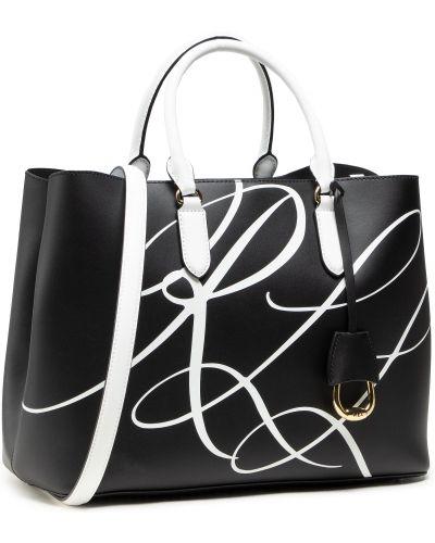 Czarna torebka duża Lauren Ralph Lauren