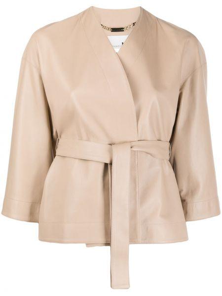 Кожаная короткая куртка Manzoni 24