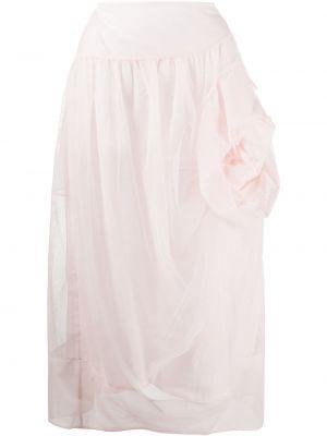 Розовая асимметричная юбка Simone Rocha