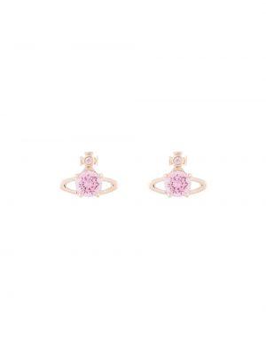 Różowe kolczyki sztyfty Vivienne Westwood