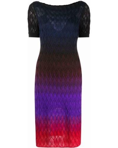 Шелковое платье миди - черное Missoni
