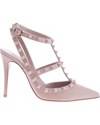 Босоножки на каблуке с пряжкой Valentino