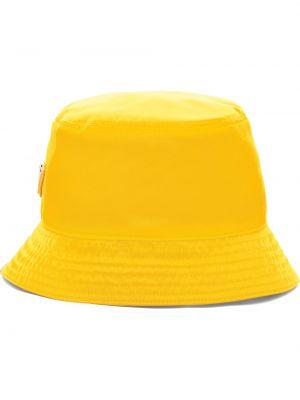 Żółty kapelusz bawełniany Prada