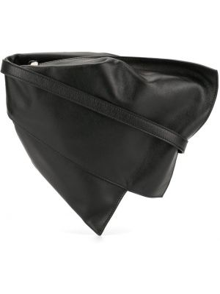 Кожаная черная маленькая сумка на молнии Discord Yohji Yamamoto