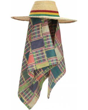 Beżowy szalik z jedwabiu Margherita X Cambiaghi X Oafrica