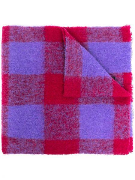 Fioletowy szalik wełniany oversize Hevò