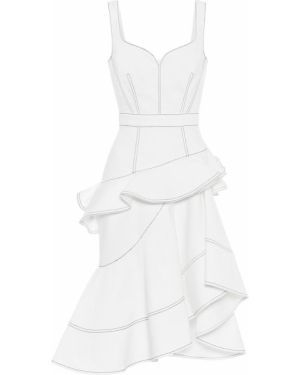 Платье миди джинсовое асимметричное Alexander Mcqueen