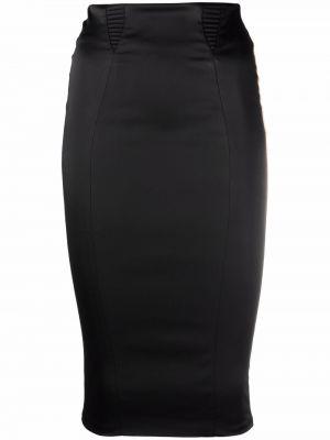 Czarna satynowa spódnica Murmur