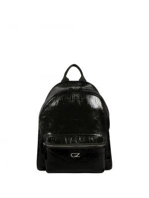 Z paskiem skórzany czarny plecak na paskach Giuseppe Zanotti