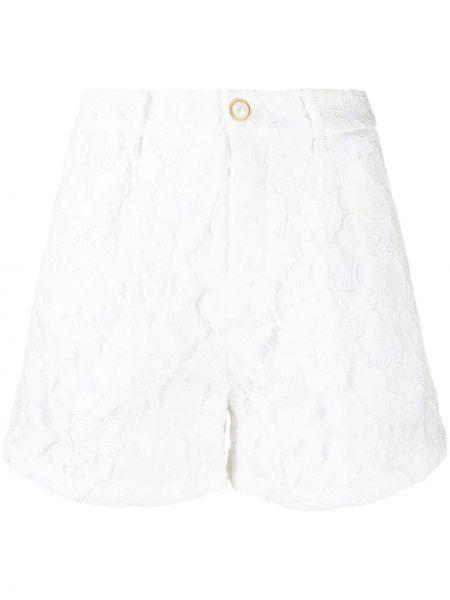 Хлопковые белые шорты с карманами Amen