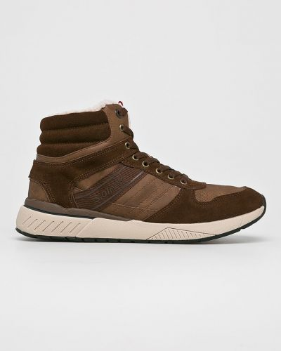 Кожаные ботинки на шнуровке высокие S.oliver